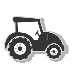Farm tractor vehicle vector image