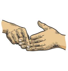 Finger separation trick sketch vector