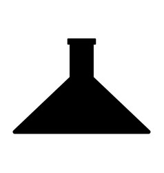 Flask the black color icon vector