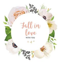 floral invitation wedding invite watercolor card vector image
