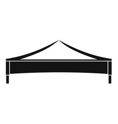 Folding tent icon simple style vector