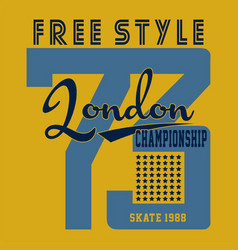 Free style london vector