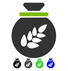 Grain harvest sack flat icon vector