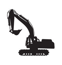 Graphic silhouette backhoe vector