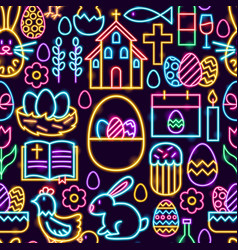 Happy easter seamless pattern vector