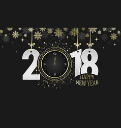 Happy new year 2018 dark greeting card numbers vector