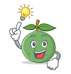 Have an idea guava mascot cartoon style vector