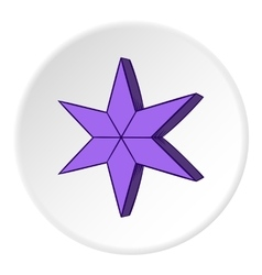 Heavenly six pointed star icon cartoon style vector