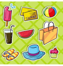 Holiday objects vector