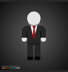 Man in tuxedo sign businessman icon vector