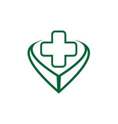 medical logo design icon concept vector image