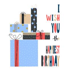 Modern happy birthday greeting card background vector
