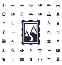 Mountain picture icon vector