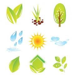 nature set vector image