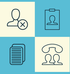 Network icons set collection of internet site vector
