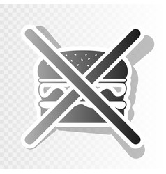 no burger sign new year blackish icon on vector image