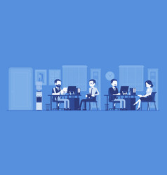 office business workspace hr manager interviewing vector image