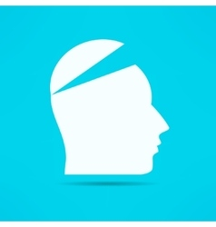 Open your mind design Free your mind Opened head vector
