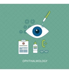 Ophthalmology flat concept vector