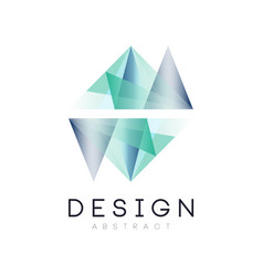 Original logo in geometric shape abstract icon in vector