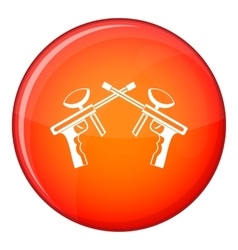 Paintball guns icon flat style vector image