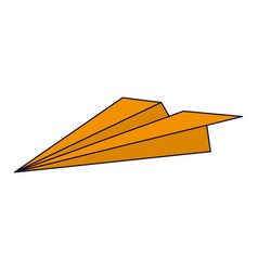 paper plane isoted vector image