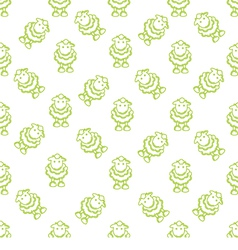 Pattern with lambs vector image