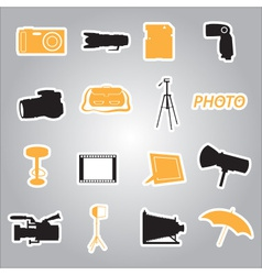 photographic stickers eps10 vector image
