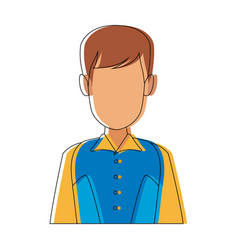Portrait man character person male image vector