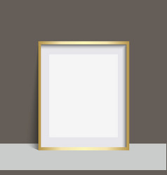 realistic black square photo frame vector image