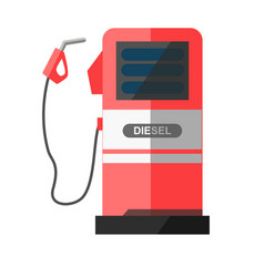 Red petrol station with disconnected filling vector
