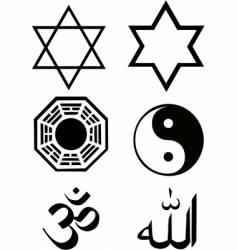 religious symbols set vector image