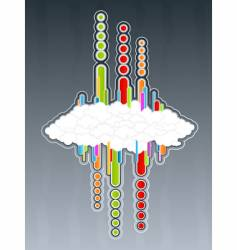 retro cloudscape vector image