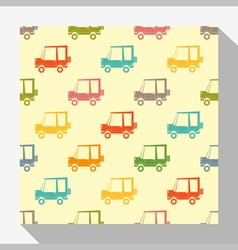 Retro seamless pattern collection with car 2 vector image