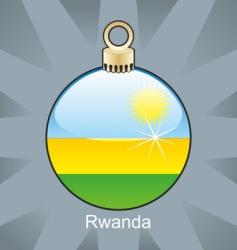 Rwanda flag on bulb vector image
