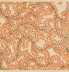 seamless orange floral background on vector image