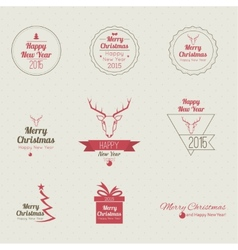 Set of calligraphic and typographic elements vector image
