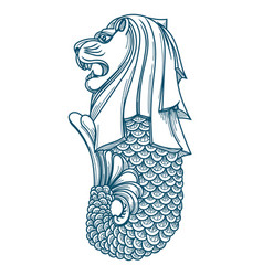 Singapore merlion icon vector