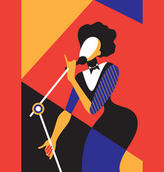 Singing woman vector