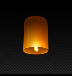 sky lantern isolated on transparent background vector image