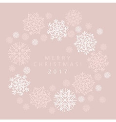 snowflake winter card of header in gentle feminine vector image