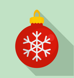 snowflake xmas toy icon flat style vector image