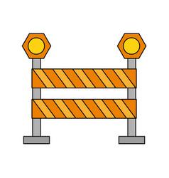 striped roadblock icon image vector image
