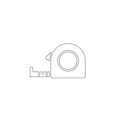 Tape measure roulette flat icon vector