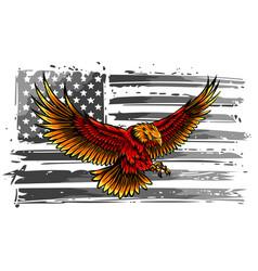 the national symbol usa flag and eagle vector image