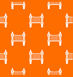 tower bridge pattern orange vector image