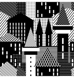 town seamless pattern vector image