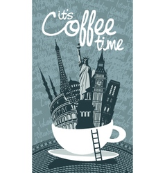 travel coffee vector image