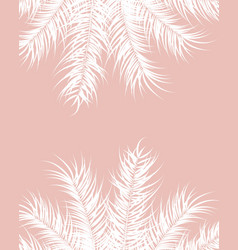 tropical design with white palm leaves and plants vector image