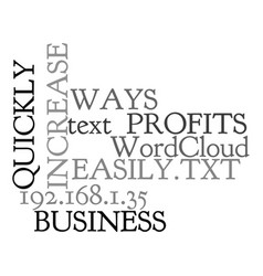 Ways to increase business profits quickly and vector